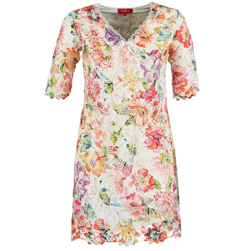 Clothing Women Short Dresses Derhy EBULLITION Ecru