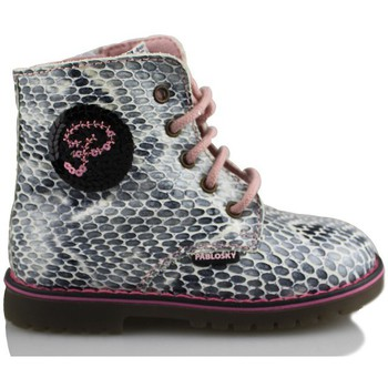Shoes Girl Mid boots Pablosky ANLKE TRENDY BOOTS GIRL VIPERA GREY