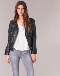 Clothing Women Leather jackets / Imitation leather Oakwood CAMERA Black