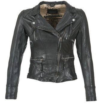 Clothing Women Leather jackets / Imitation leather Oakwood CAMERA Black