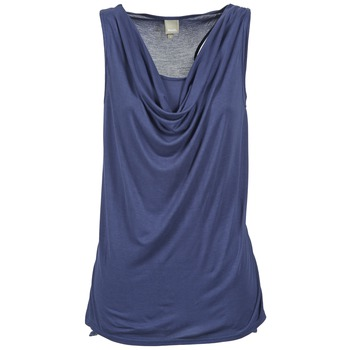 Clothing Women Tops / Sleeveless T-shirts Bench DUPLE Blue