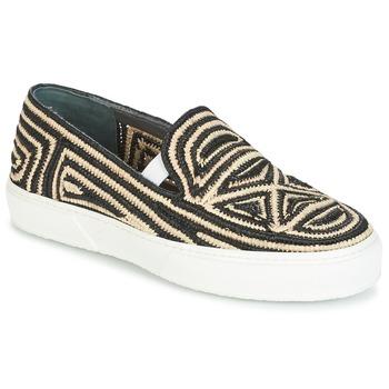 Shoes Women Slip ons Robert Clergerie TRIBAL Black / BEIGE