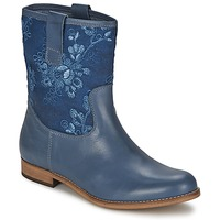 Shoes Women Mid boots Alba Moda FALINA Dark Blue