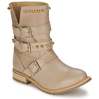 Shoes Women Mid boots Alba Moda LIVIANE Beige gold