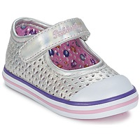 Shoes Girl Flat shoes Pablosky JILENA Silver / Pink