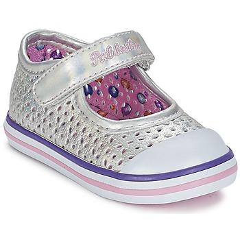 Shoes Girl Flat shoes Pablosky JILENA Silver / Pink