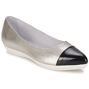 Shoes Women Flat shoes Alba Moda DRINITE Silver / Black