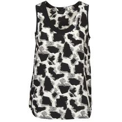 Clothing Women Tops / Sleeveless T-shirts Joseph DEBUTANTE Black / White / Grey