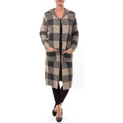 Clothing Women Jackets / Cardigans De Fil En Aiguille Cardigan long K100 marron Brown