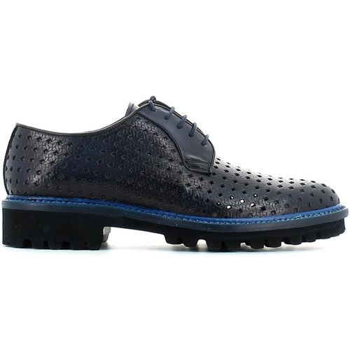 Shoes Men Walking shoes Rogers 094 14 Lace-up heels Man Blue Blue
