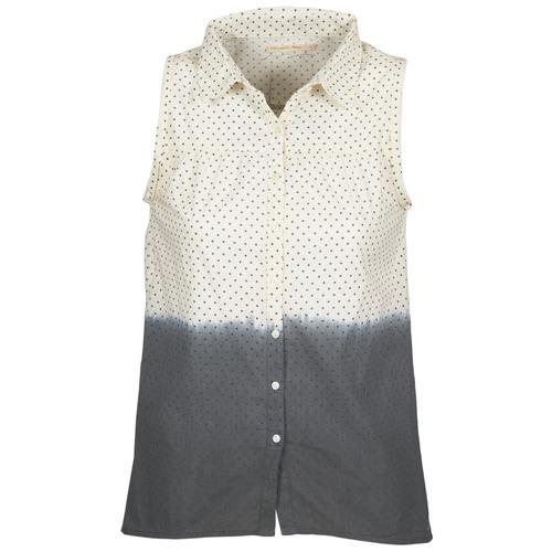 Clothing Women Shirts Teddy Smith CAMILLE Blue / Ecru