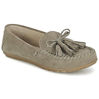 Shoes Women Loafers Esprit SIRA LOAFER Kaki / Clear