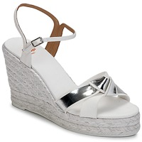 Shoes Women Sandals Castaner BESSIE White / Silver