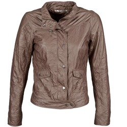 Clothing Women Leather jackets / Imitation leather DDP GIRUP Brown