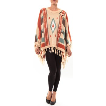 Clothing Women jumpers Barcelona Moda Poncho 72473601 beige Beige
