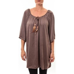 Clothing Women Tunics Nina Rocca Tunique Emilie taupe Brown