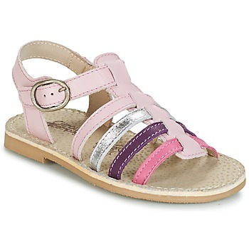 Shoes Girl Sandals Citrouille et Compagnie JASMA Purple / Multicoloured