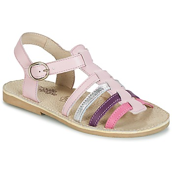 Shoes Girl Sandals Citrouille et Compagnie JASMA Pink / Purple