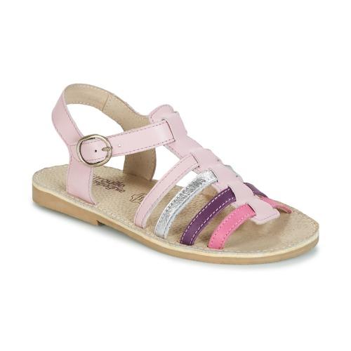 Shoes Girl Sandals Citrouille et Compagnie JASMA Purple / Multicoloured