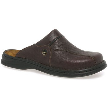 Shoes Men Mules Josef Seibel Klaus Classic Leather Mens Mules brown