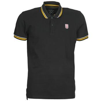 Clothing Men short-sleeved polo shirts Pepe jeans JIMMY Black