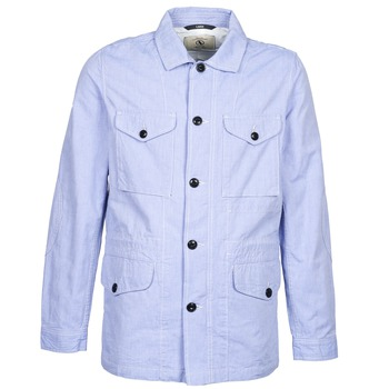 Clothing Men Parkas Aigle STONEFISH Blue