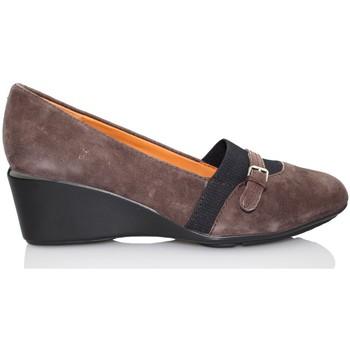 Shoes Women Heels Geox Taylor wedge moccasin BROWN