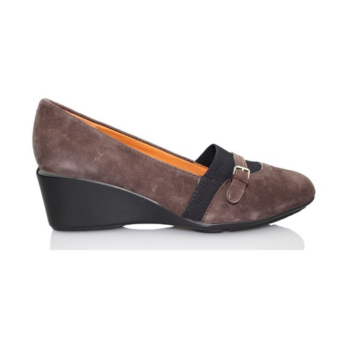 Shoes Women Heels Geox Taylor wedge moccasin BROWN