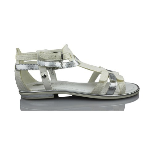 Shoes Girl Sandals Geox GIGLIO GBK WHITE
