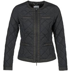 Clothing Women Duffel coats Geox ADAMI Black