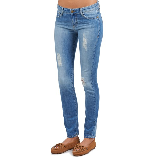 Acquaverde SCARLETT Blue - Free delivery  ! - Clothing cropped trousers Women   69.60