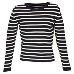 Clothing Women jumpers Acquaverde MAS Marine / Ecru