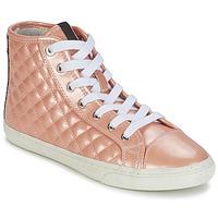 Shoes Women Hi top trainers Geox NEW CLUB A Peach
