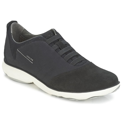 Shoes Men Low top trainers Geox NEBULA B Black