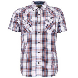 Clothing Men short-sleeved shirts Petrol Industries SHIRT SS White / Red