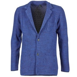 Clothing Men Jackets / Blazers Benetton BLIZINE Marine