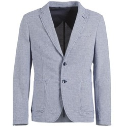 Clothing Men Jackets / Blazers Benetton CHEVOTU MARINE