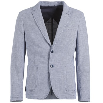 Clothing Men Jackets / Blazers Benetton CHEVOTU Blue