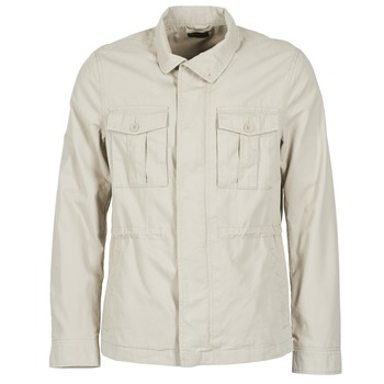 Clothing Men Jackets Benetton RESATIE Beige