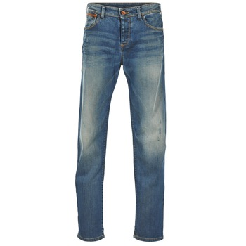 Clothing Men Straight jeans Benetton GUATERRE Blue / Medium