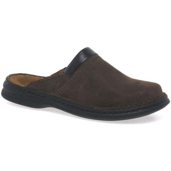 Shoes Men Mules Josef Seibel Max Men&039;s Brown Leather Mules brown