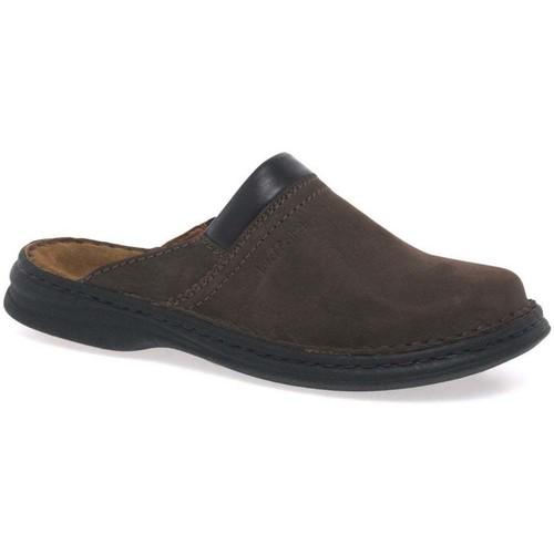 Shoes Men Mules Josef Seibel Max Men&039;s Brown Leather Mules brown