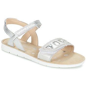 Shoes Girl Sandals Clarks MIMOMAGIC JUNIOR Silver