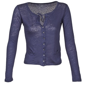 Clothing Women Jackets / Cardigans Majestic BATHILDE Blue