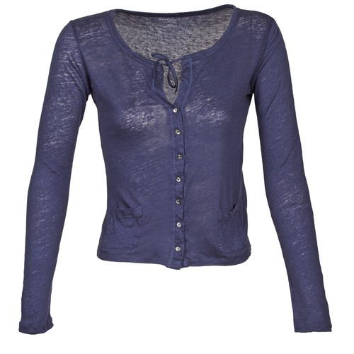 Clothing Women Jackets / Cardigans Majestic BATHILDE Blue