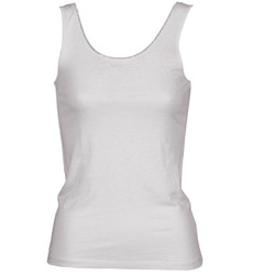 Clothing Women Tops / Sleeveless T-shirts Majestic 701 White
