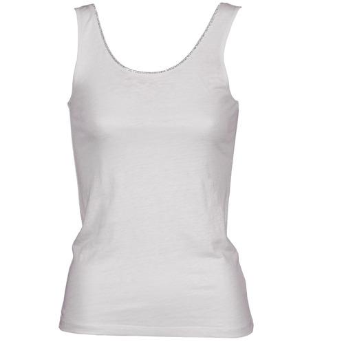 Clothing Women Tops / Sleeveless T-shirts Majestic 701 White