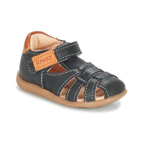 Shoes Children Sandals Kavat RULLSAND Blue / MARINE