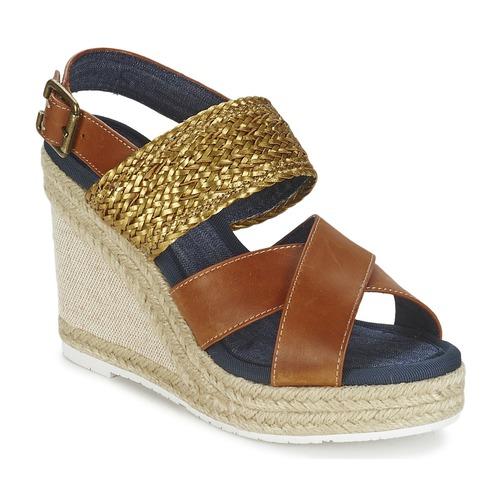 Shoes Women Sandals Napapijri BELLE Camel / Gold