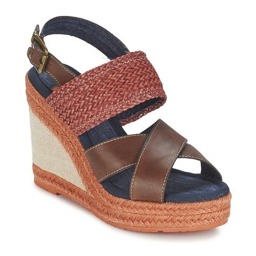 Shoes Women Sandals Napapijri BELLE Brown / Dark / Red